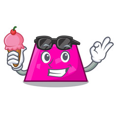 With ice cream trapezoid character cartoon style vector