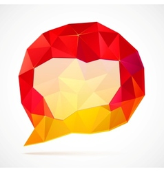 Abstract triangles idea bubble vector image
