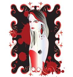 Beautiful vampire woman vector image vector image