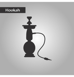 black and white style icon Eastern hookah vector image vector image