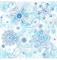 Christmas seamless white grunge pattern vector image vector image