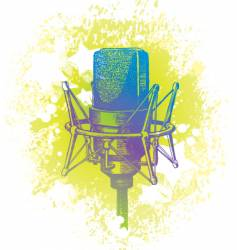 hand drawn studio microphone vector image vector image