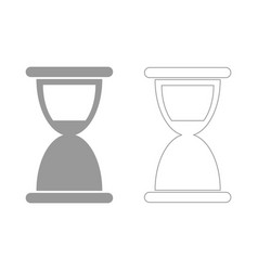 hourglass the grey set icon vector image vector image