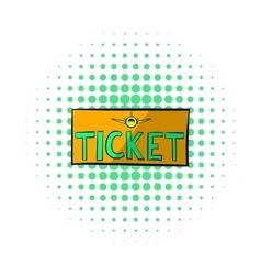 Plane tickets icon comics style vector