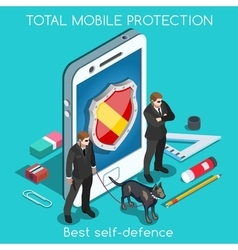 Security App 01 Concept Isometric vector image