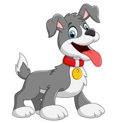 cartoon dog on white background vector image