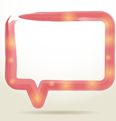 watercolor Speech Bubble Background vector image
