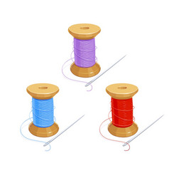 Colored thread reel vector