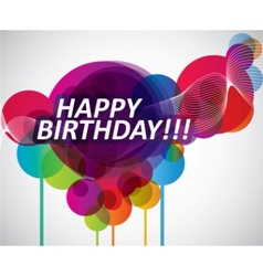 colorful happy birthday banner vector image