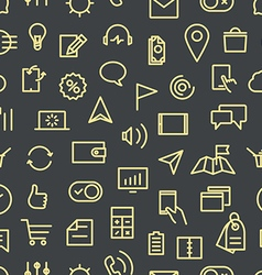 Modern gadgets pictograms seamless background vector image vector image