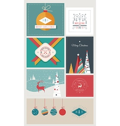 New Year and Christmas Greeting Cards and Banners vector image vector image
