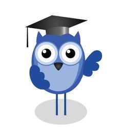 owl teacher vector image vector image