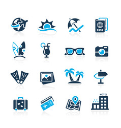 summer vacations icons vector image