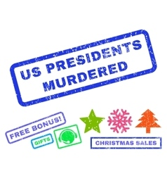 Us presidents murdered rubber stamp vector