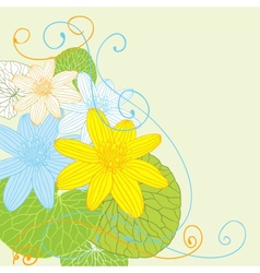 Abstract flowers background with place for your vector image vector image