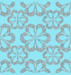 abstract seamless dots flower vector image vector image