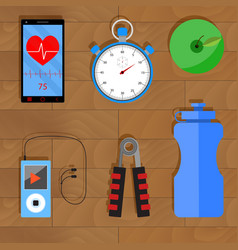 accessories for training vector image vector image