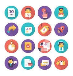 Customer Care and Commerce Icons vector image