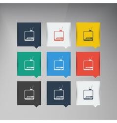 flat UI design trend icons vector image