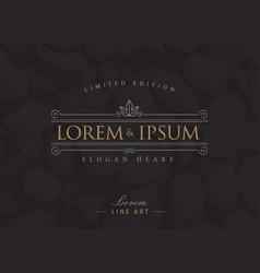 luxury logos flourishes calligraphy elegant vector image