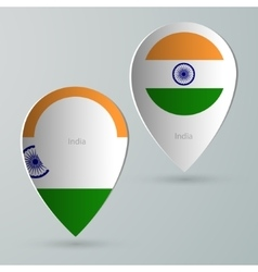 paper of map marker for maps india vector image vector image