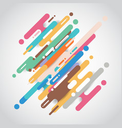 Abstract multicolor rounded shapes lines diagonal vector