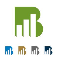 b letter stock exchange logo template design vector image