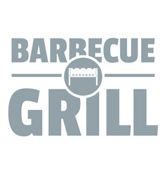 barbecue grill logo simple gray style vector image