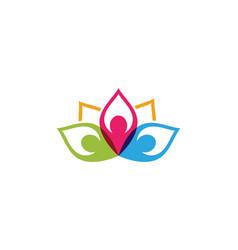 beauty lotus icon vector image