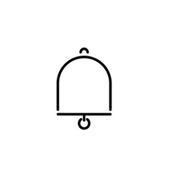 bell outline icon vector image