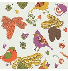 Birdies print vector