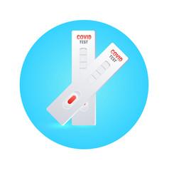 blood sample on coronavirus rapid diagnostic test vector image