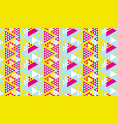 Bright fun geometry seamless vector