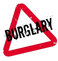 Burglary rubber stamp vector