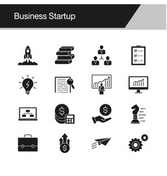 Business startup icons design for presentation vector