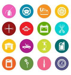 car maintenance and repair icons many colors set vector image