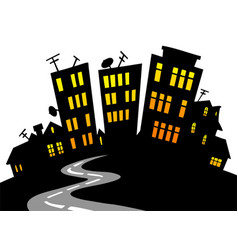 Cartoon city skyline vector