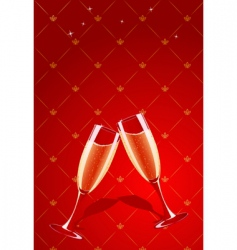 champagne glasses vector image
