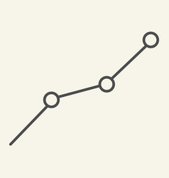 chart thin line icon graph vector image