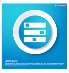 Computer server icon abstract blue web sticker vector