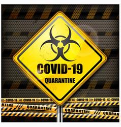Coronavirus danger sign vector