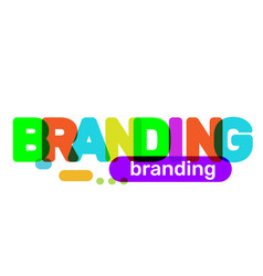 creative of business word branding lettering vector image