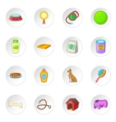 Dog care icons set vector
