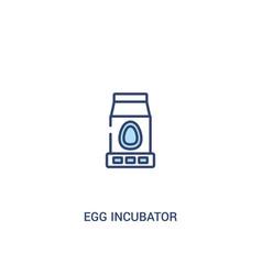 Egg incubator concept 2 colored icon simple line vector