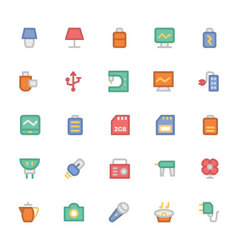 Electronics Colored Icons 9 vector image