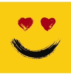 Emoticon in love painted vector image