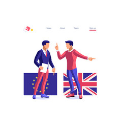 European union concept brexit vector