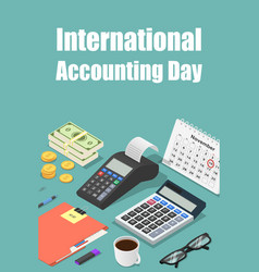 Global accounting day concept background vector