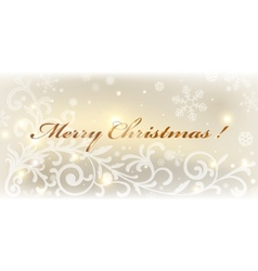gold christmas card colorful vector image