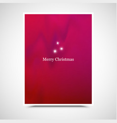 Holiday background new year card merry christmas vector
